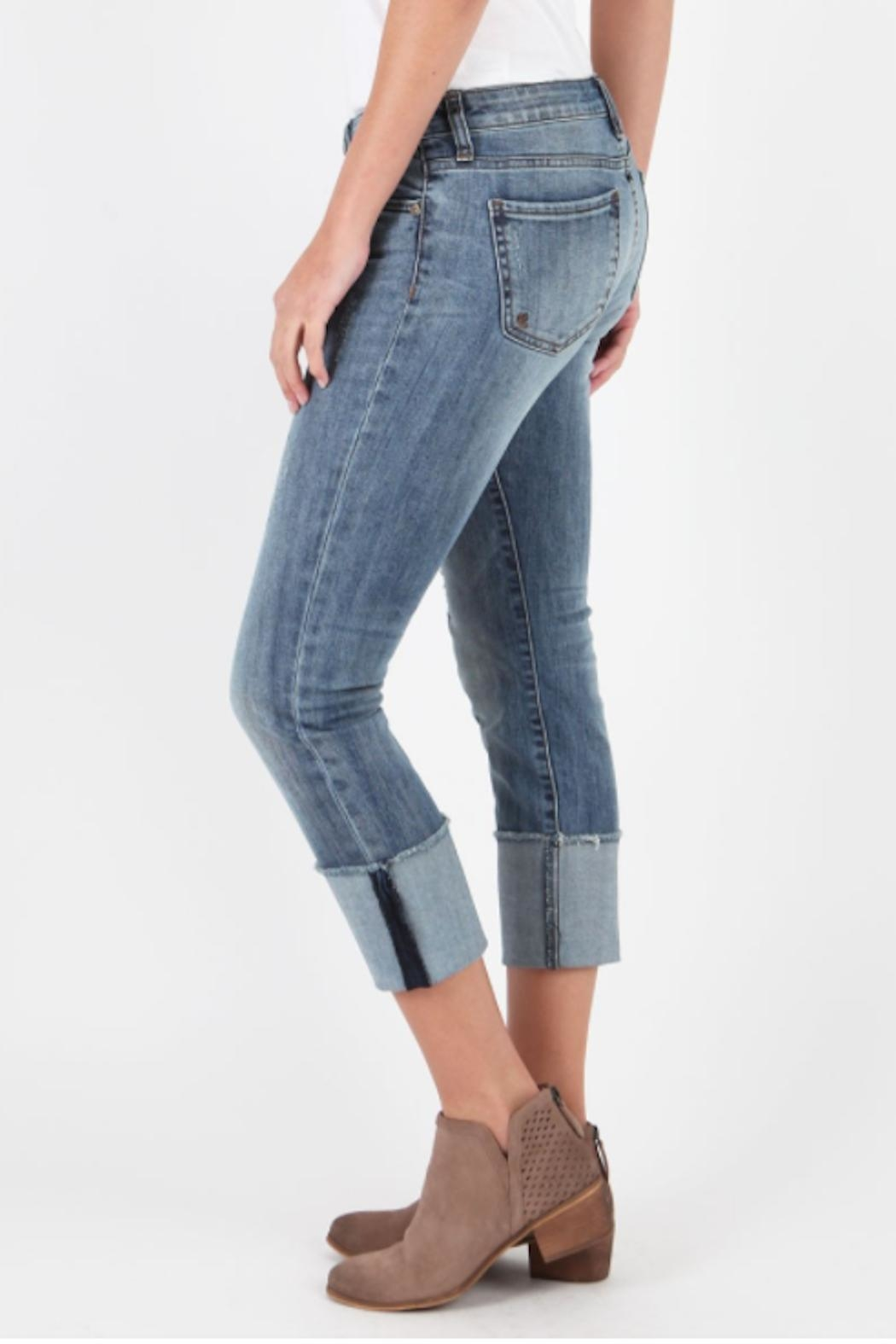 Kut from the Kloth Cameron Wide-Cuff Jeans - Side Cropped Image