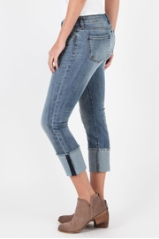 Kut from the Kloth Cameron Wide-Cuff Jeans - Side cropped