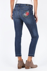 Kut from the Kloth Catherine Embroidered Jeans - Front full body