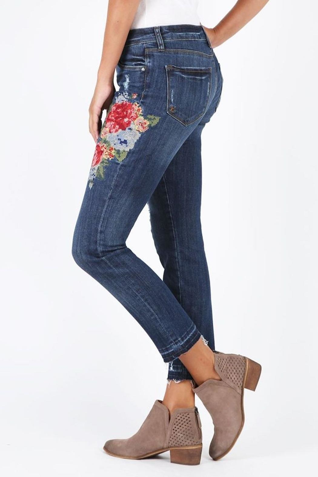 Kut from the Kloth Catherine Embroidered Jeans - Side Cropped Image
