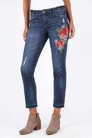 Kut from the Kloth Catherine Embroidered Jeans - Front cropped