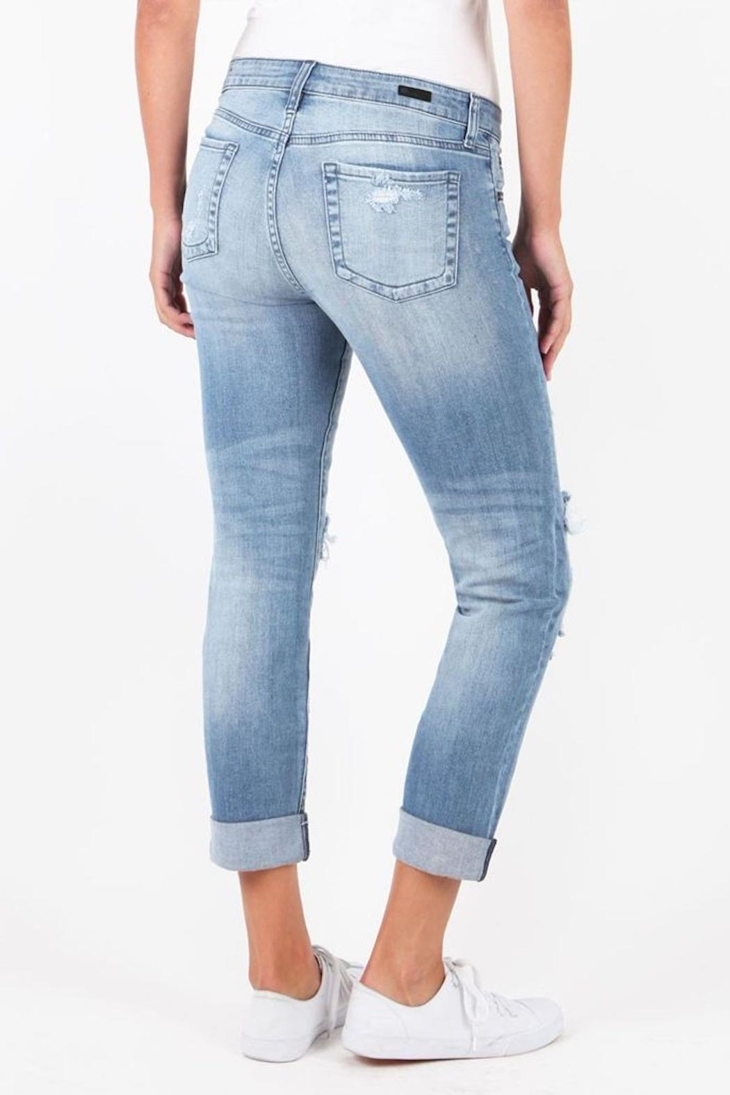 Kut from the Kloth Catherine Patchwork Jeans - Front Full Image