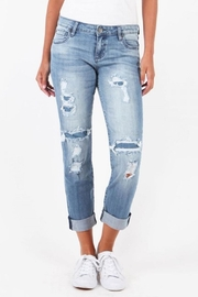 Kut from the Kloth Catherine Patchwork Jeans - Product Mini Image