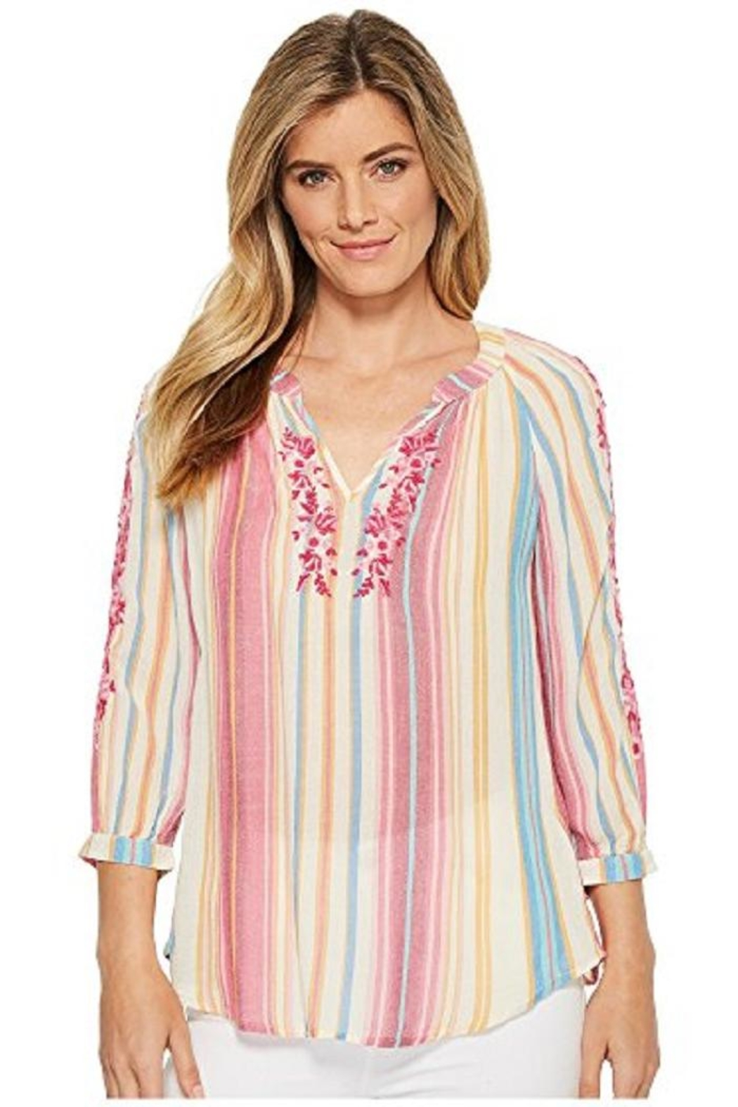 Kut from the Kloth Colorful Embroidered Top - Main Image