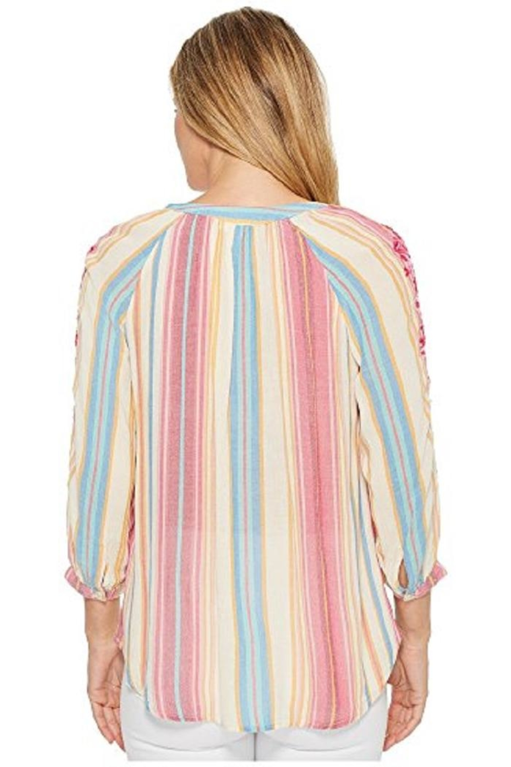 Kut from the Kloth Colorful Embroidered Top - Front Full Image