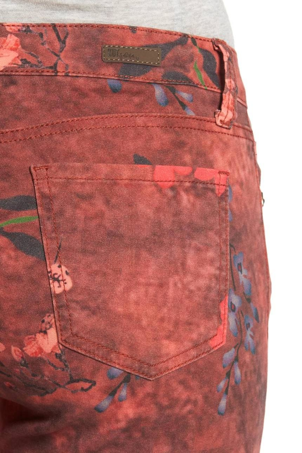 Kut from the Kloth Connie Print Skinny Jeans - Back Cropped Image