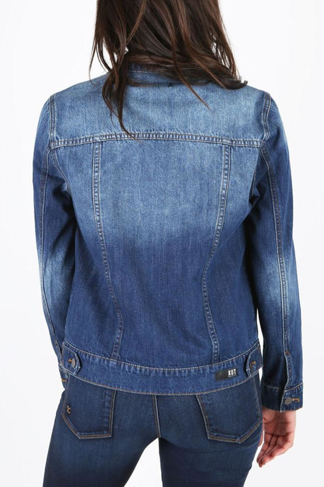Kut from the Kloth Destructed Denim Jacket - Front Full Image