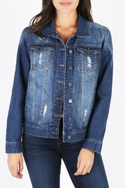 Kut from the Kloth Destructed Denim Jacket - Product Mini Image