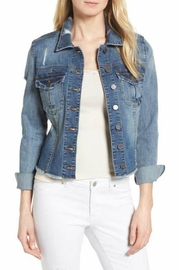 Kut from the Kloth Distressed Denim Jacket - Front cropped