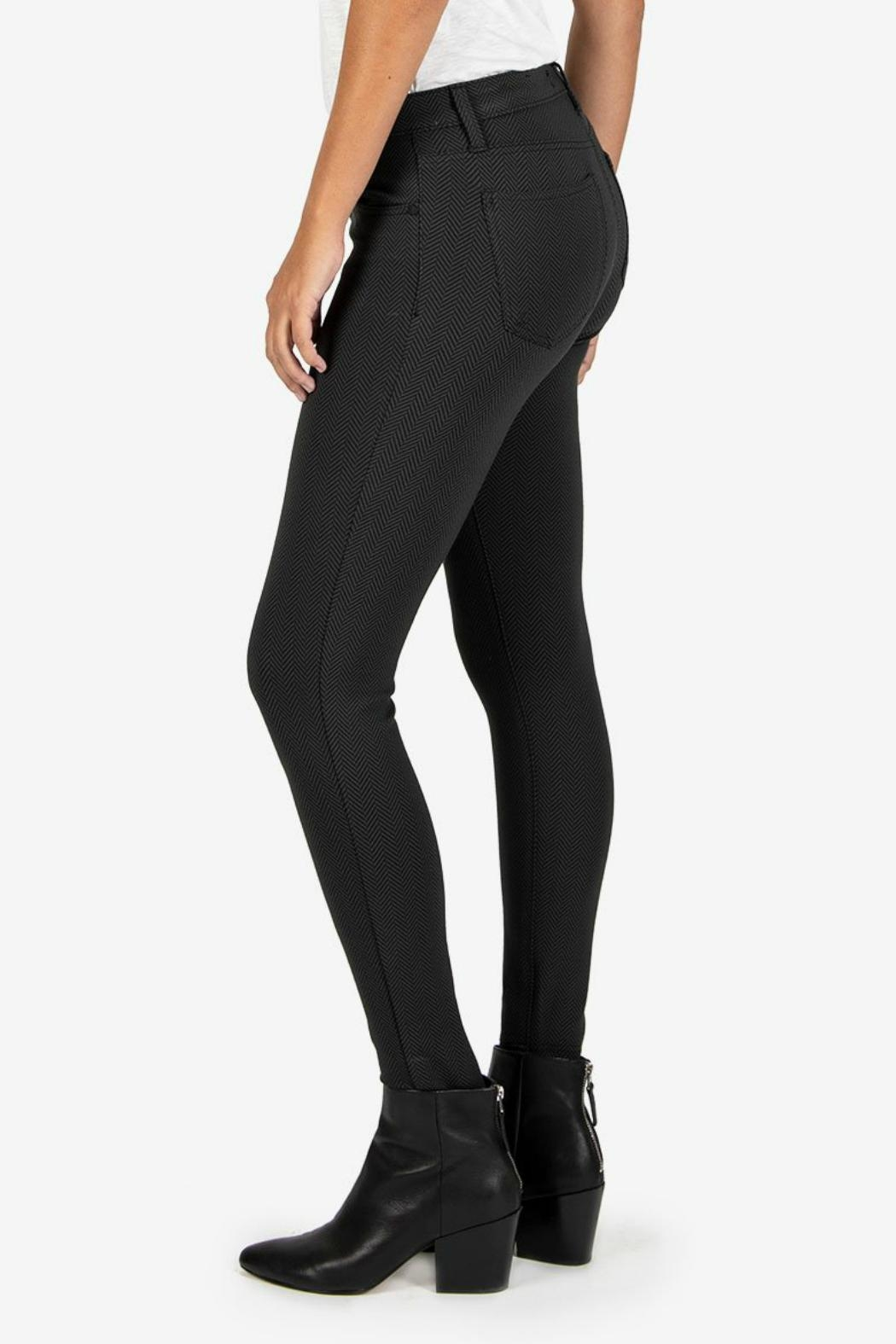 Kut from the Kloth Donna Ponte Ankle-Skinny - Side Cropped Image