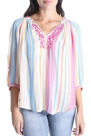 Kut from the Kloth Embroidered Peasant Blouse - Product Mini Image