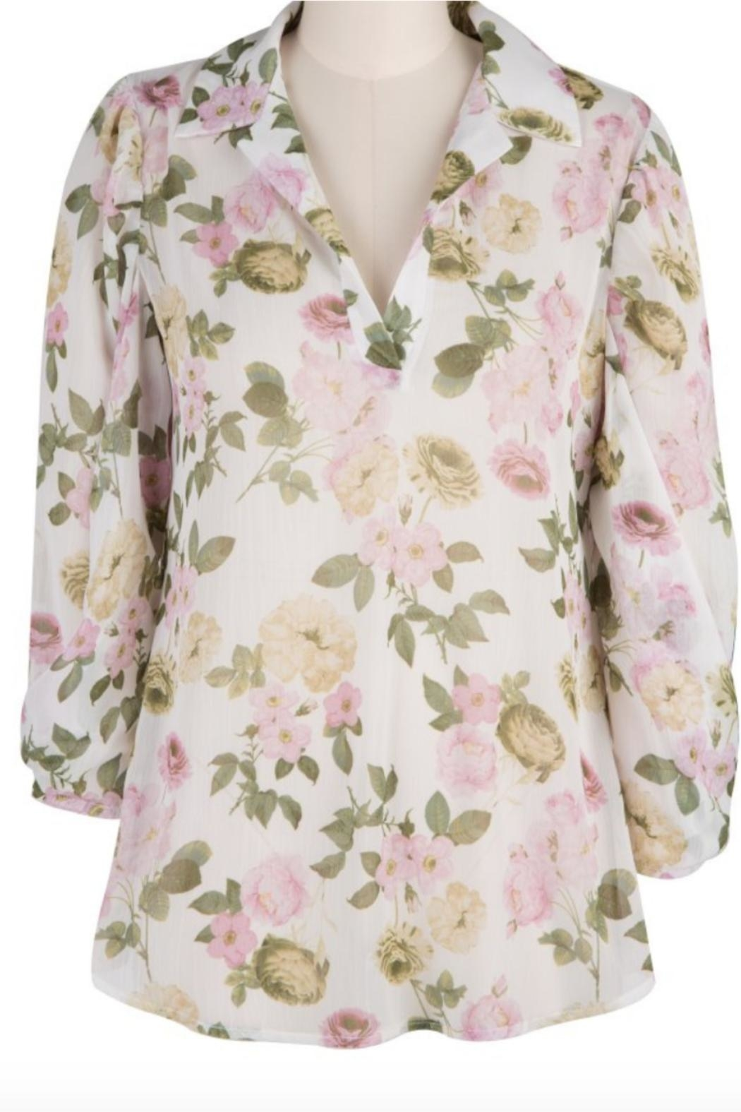 Kut from the Kloth Floral Collar Blouse - Main Image