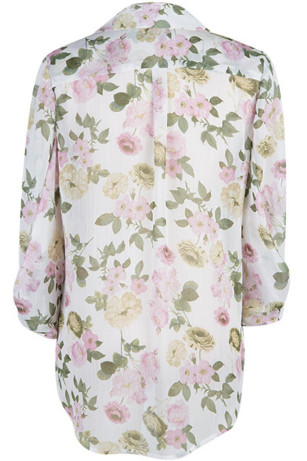 Kut from the Kloth Floral Collar Blouse - Front Full Image