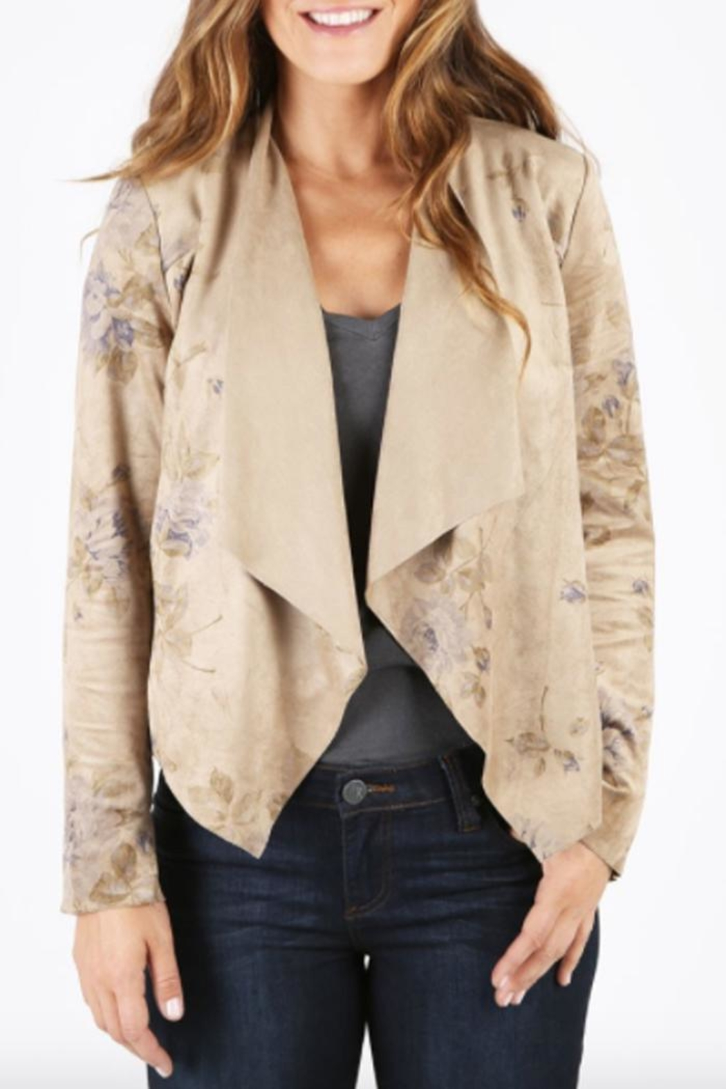 Kut from the Kloth Floral Suede Jacket - Main Image