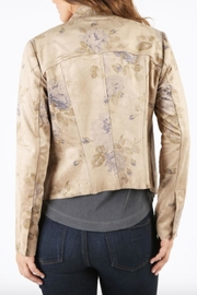 Kut from the Kloth Floral Suede Jacket - Front full body