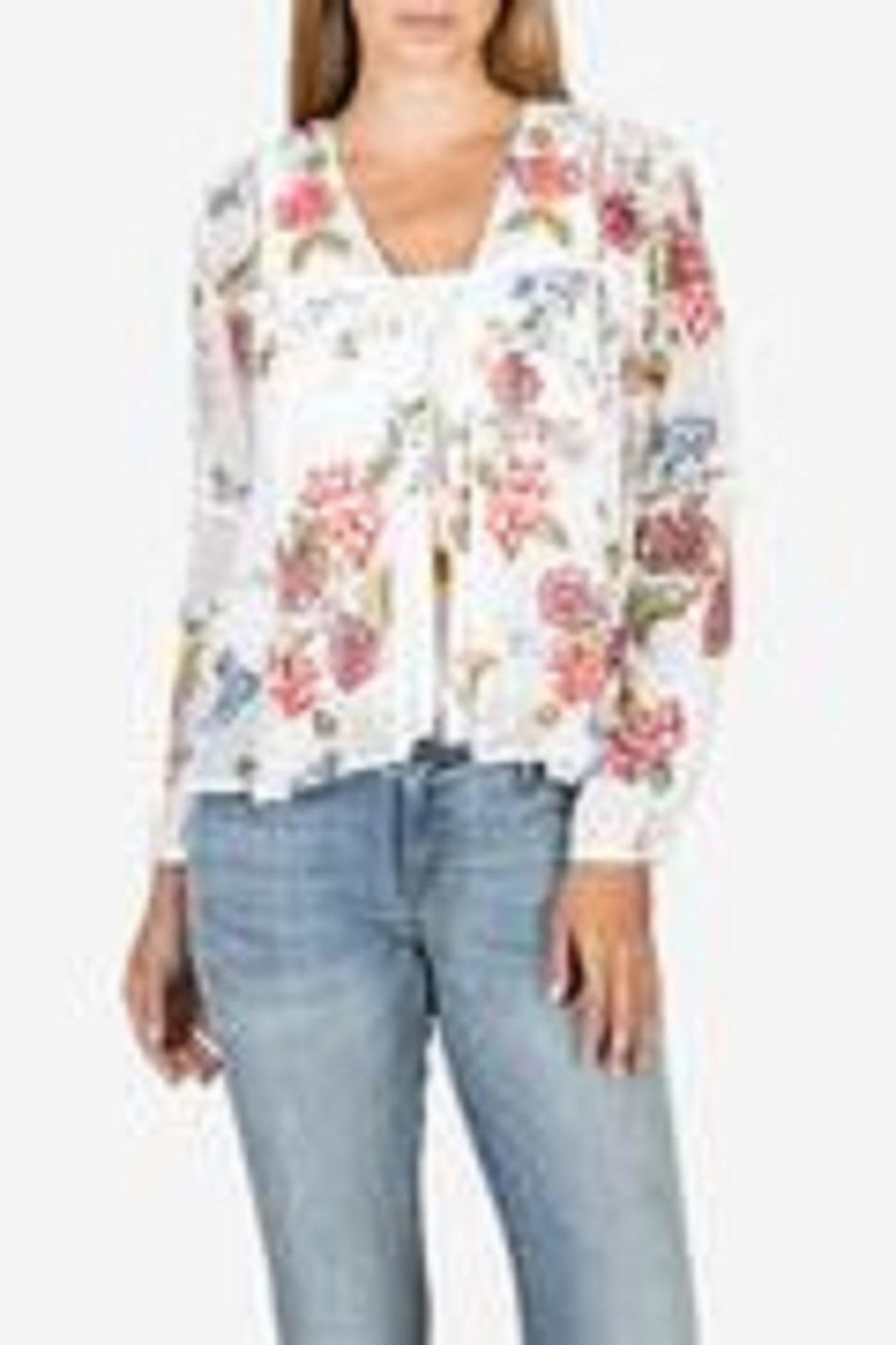 Kut from the Kloth Floral Tiefront Blouse - Main Image