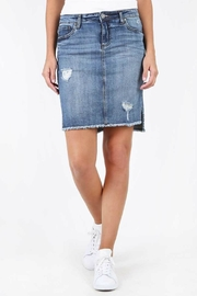 Kut from the Kloth Hi-Lo Denim Skirt - Product Mini Image