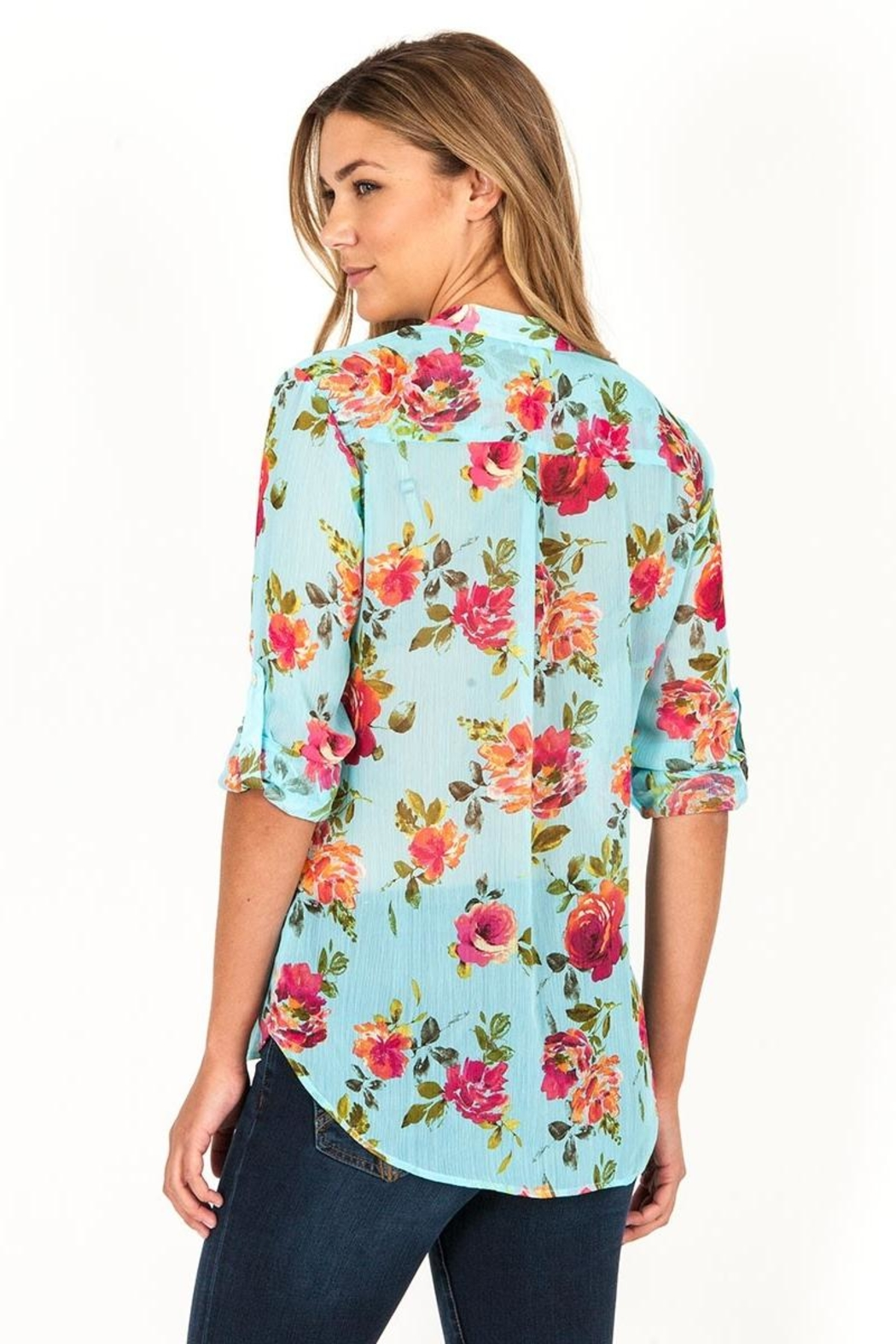 Kut from the Kloth Lucida Floral Blouse - Front Full Image