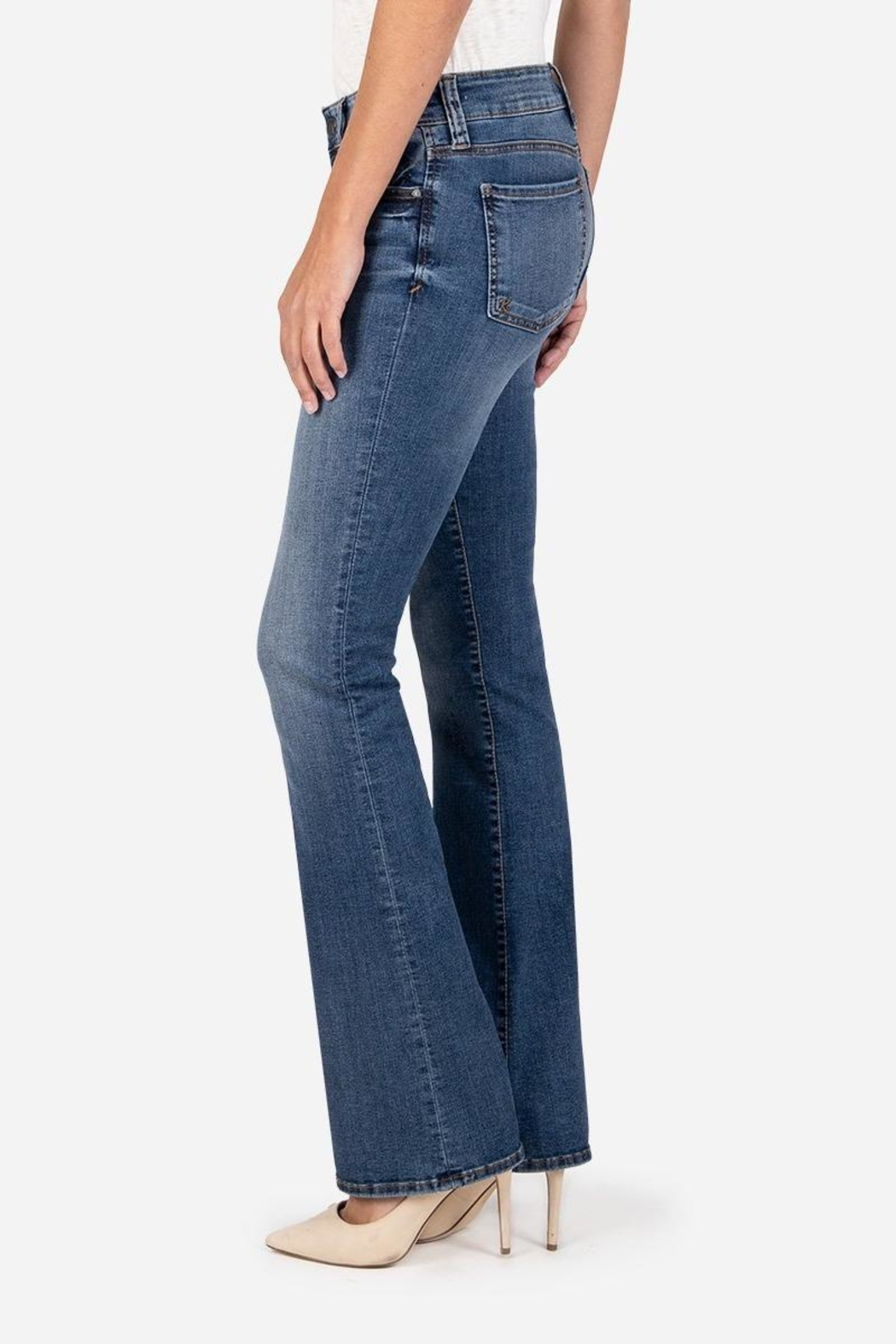Kut from the Kloth Natalie Bootcut Jeans - Side Cropped Image