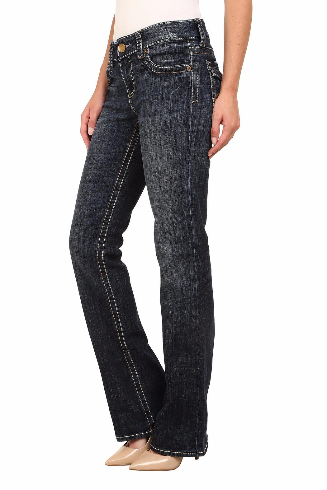 Kut from the Kloth Natalie Bootleg Jeans - Side Cropped Image