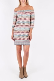 Kut from the Kloth Off Shoulder Printed Dress - Product Mini Image
