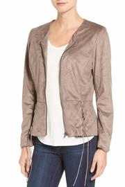 Kut from the Kloth Peplum Faux Suede Jacket - Product Mini Image