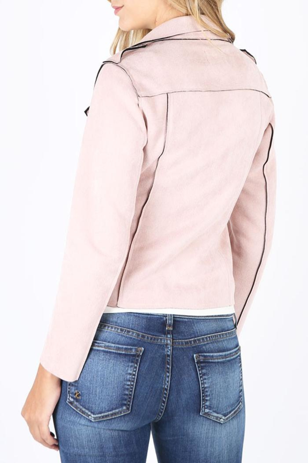 Kut from the Kloth Pink Bloom Jacket - Front Full Image