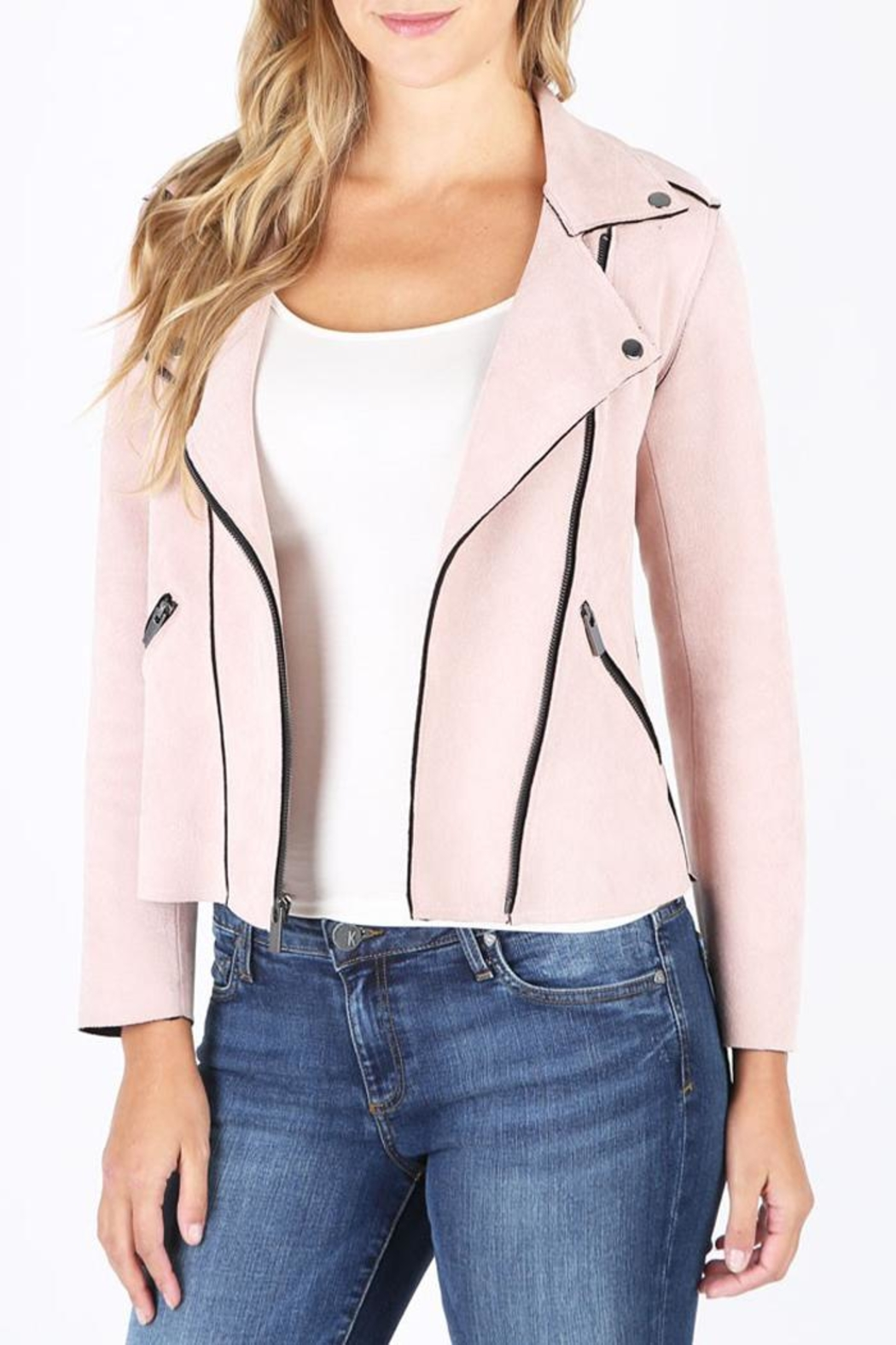 Kut from the Kloth Pink Bloom Jacket - Main Image