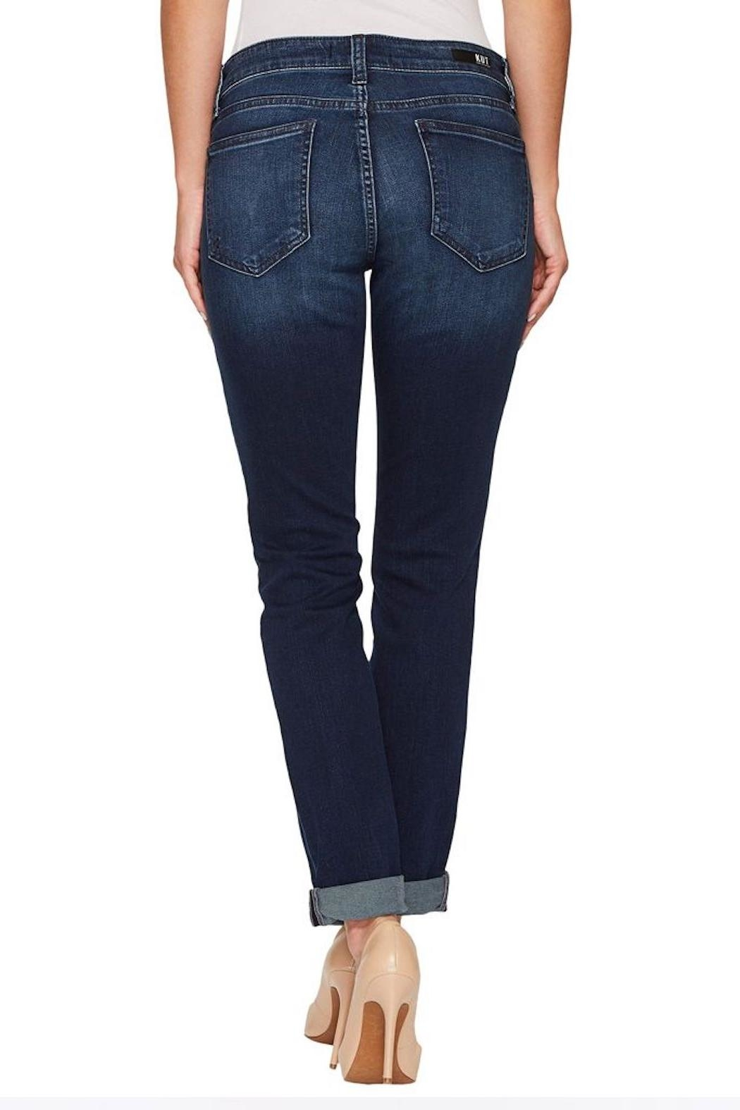 Kut from the Kloth Slouchy Boyfriend Jeans - Front Full Image
