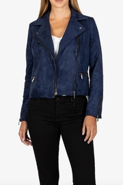 Kut from the Kloth Suede Moto Jacket - Front cropped