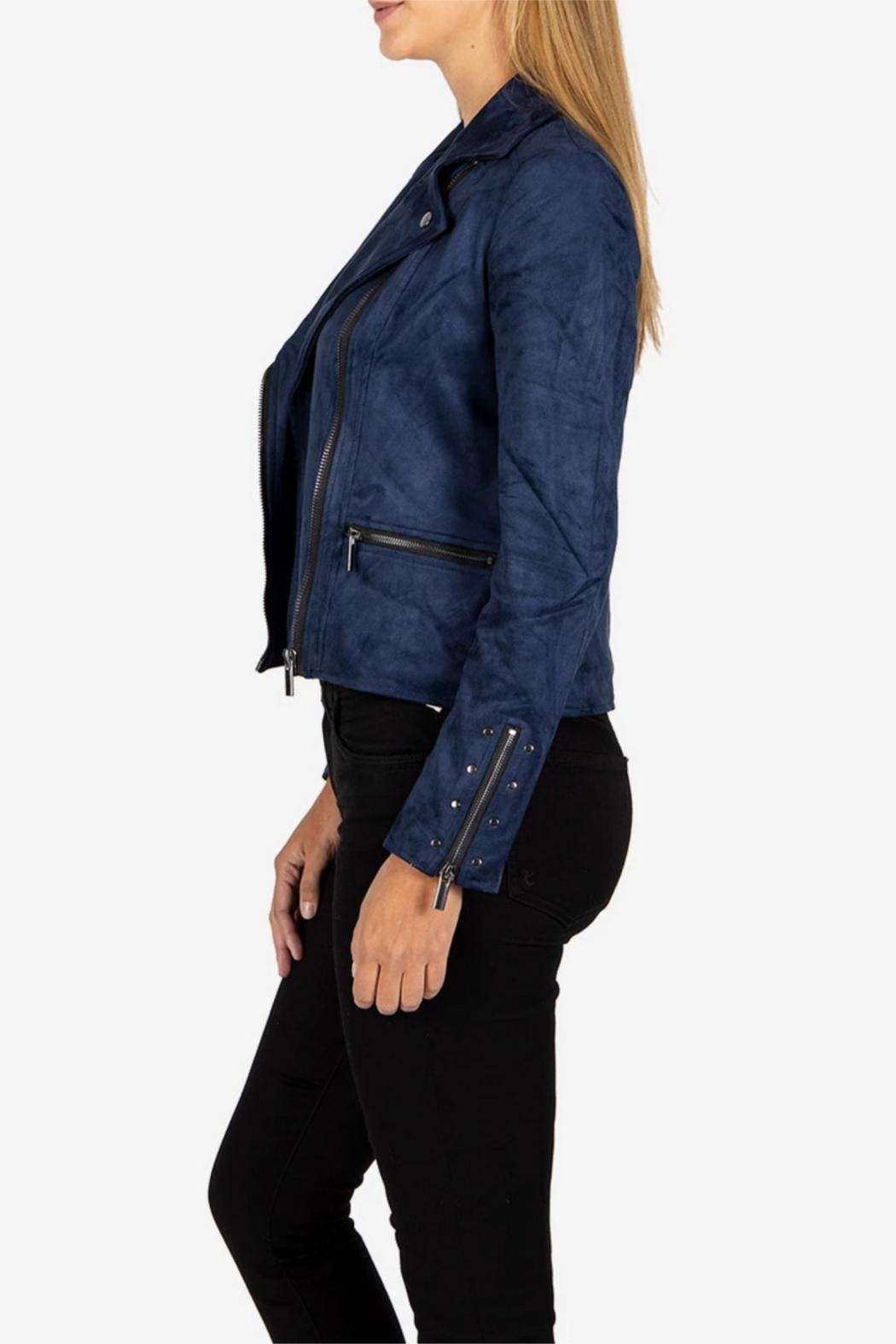 Kut from the Kloth Suede Moto Jacket - Side Cropped Image