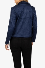 Kut from the Kloth Suede Moto Jacket - Front full body