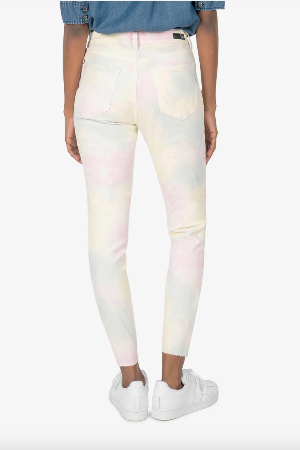 Kut from the Kloth Tie Dye Jean - Back Cropped Image
