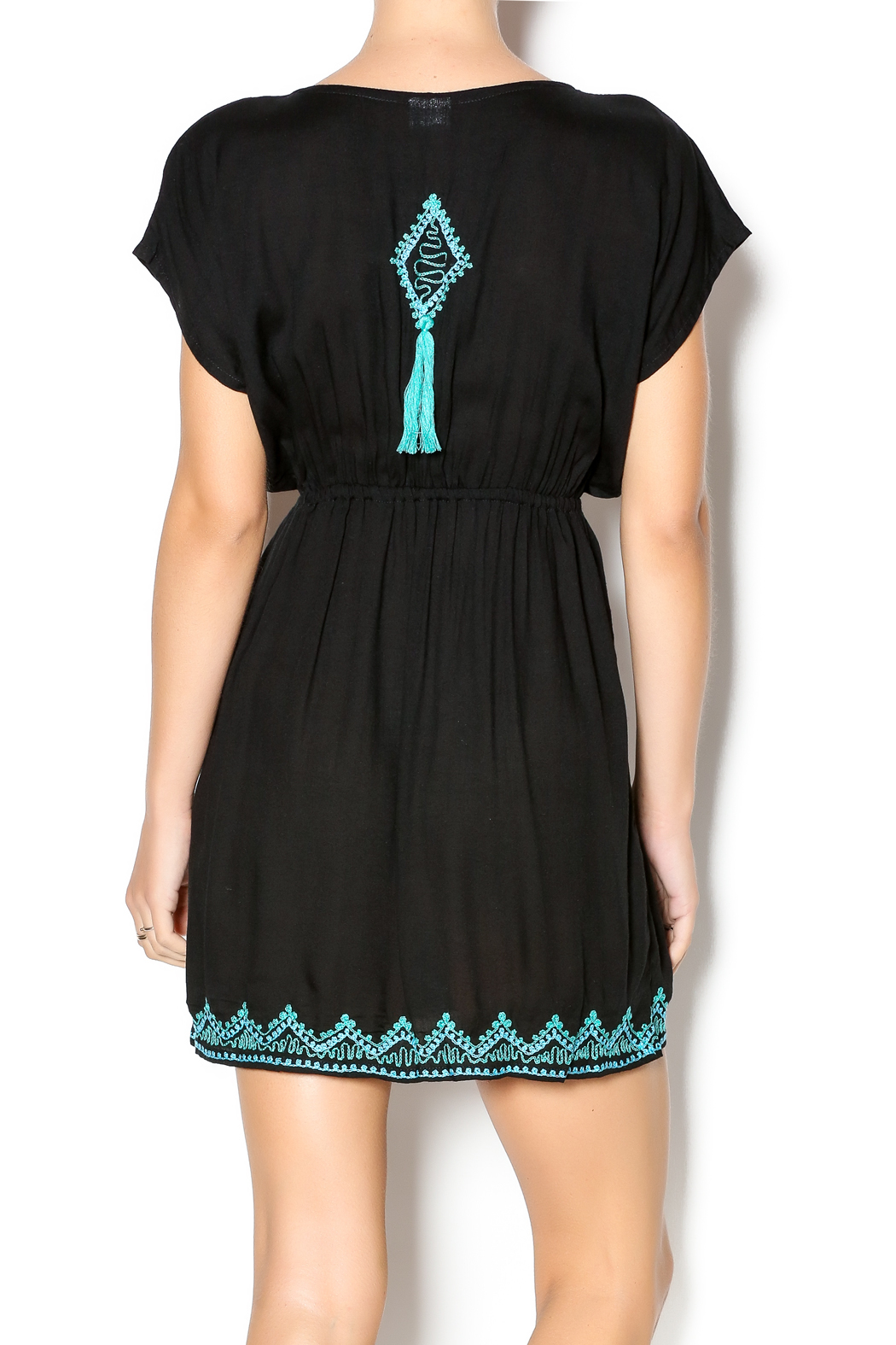 Kuta's One World Embroidered Ibiza Dress - Back Cropped Image