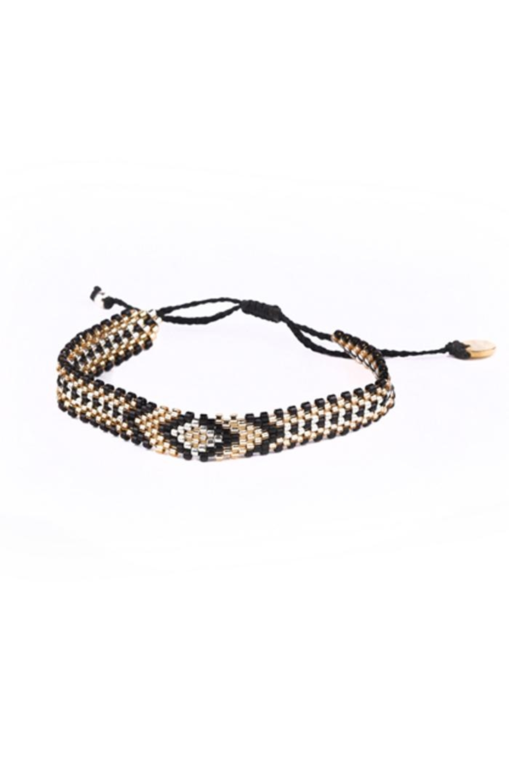 Kutula Kiss Diamond Pattern Bracelet - Front Cropped Image