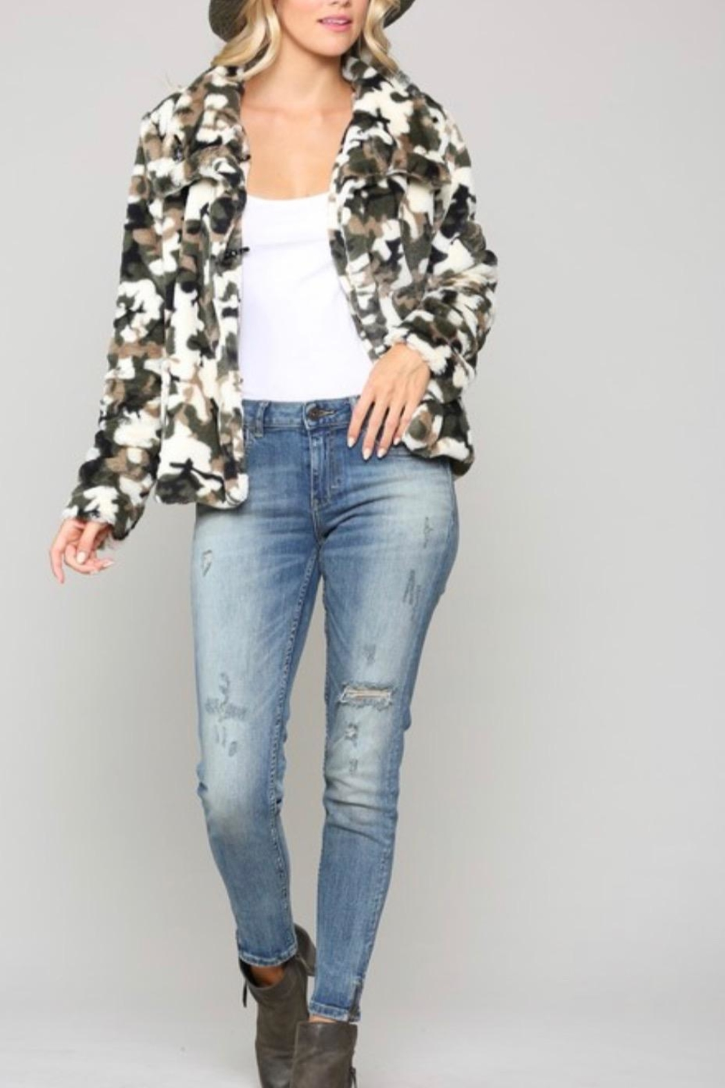 Kye Mi Camo Fur Coat - Main Image