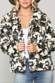 Kye Mi Camo Fur Coat - Front cropped