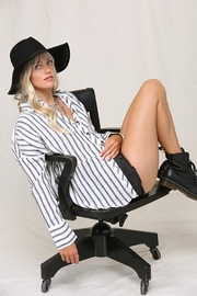KyeMi Button Down Striped Design Long Sleeve - Product Mini Image
