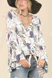 KyeMi Floral Waist Tie Top - Product Mini Image
