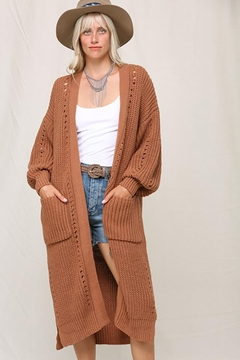KyeMi Open Front Long Sweater Cardigan - Product List Image