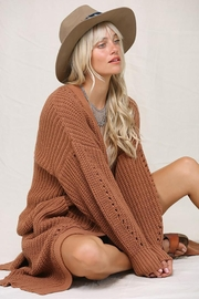 KyeMi Open Front Long Sweater Cardigan - Other
