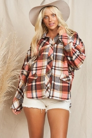 KyeMi Plaid Print And Button Front Top - Front cropped