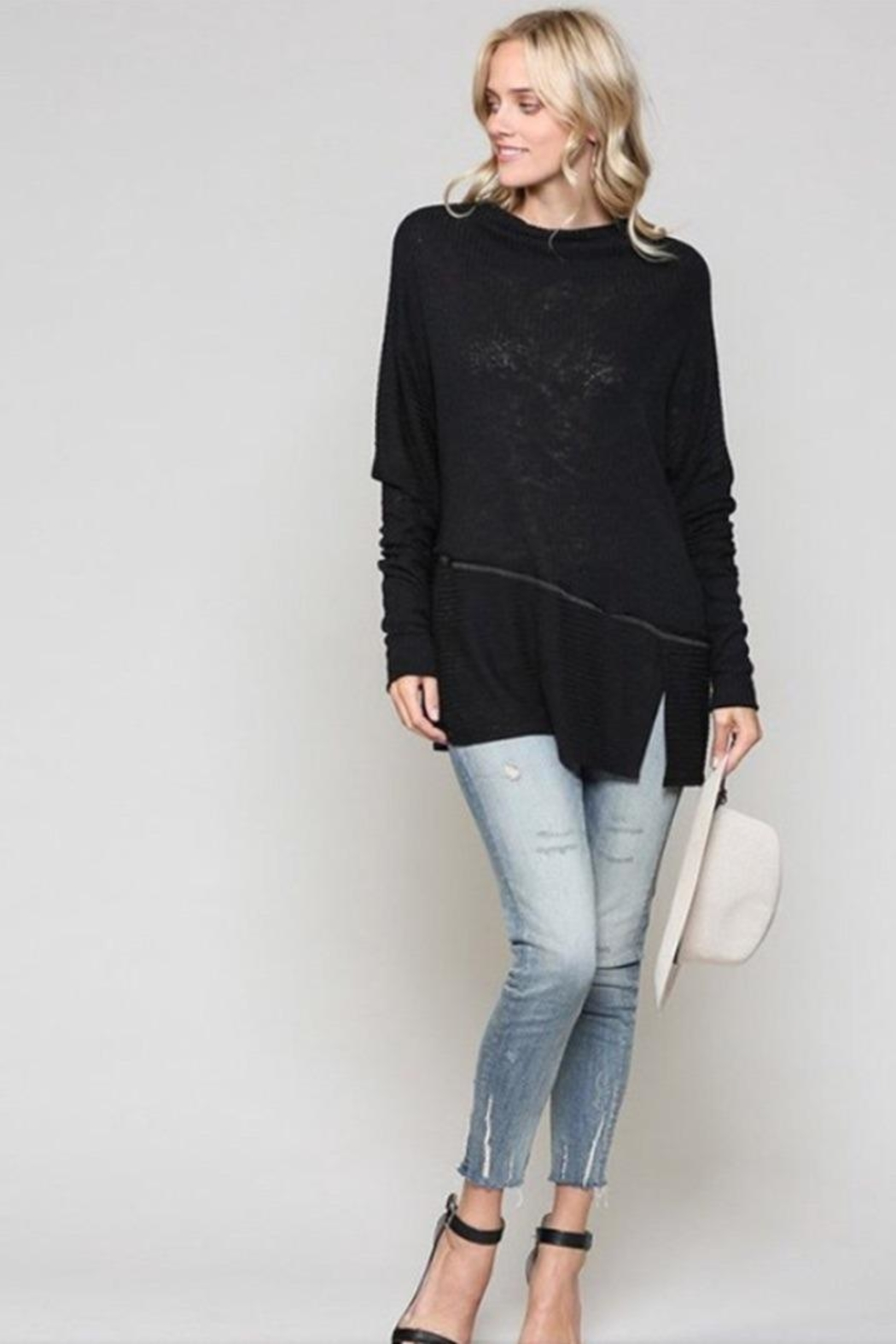 KyeMi Ribbed Pullover Top - Front Full Image