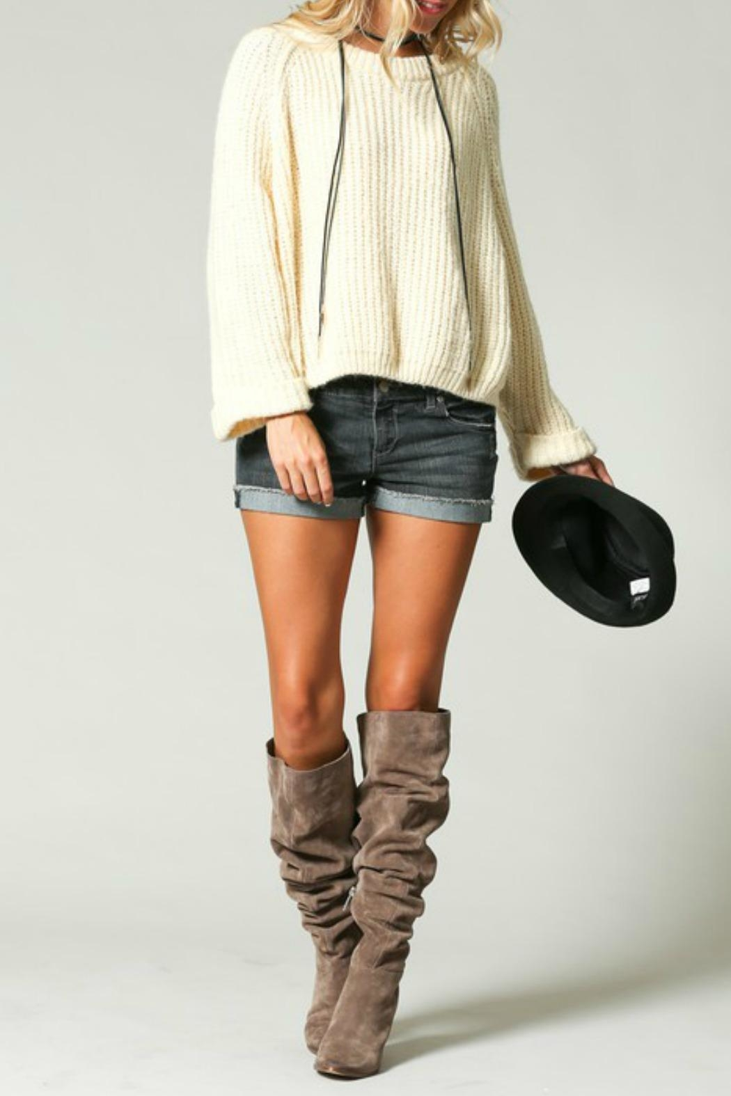 KyeMi Sonja Oversized Sweater - Front Cropped Image