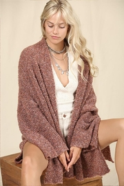 KyeMi Stretch Knit Open Front Cardigan - Product Mini Image