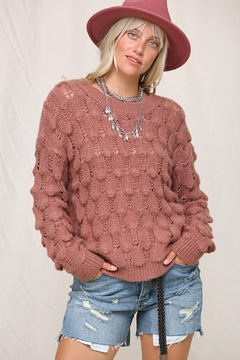 Shoptiques Product: Waffle Knit Slouchy Sweater