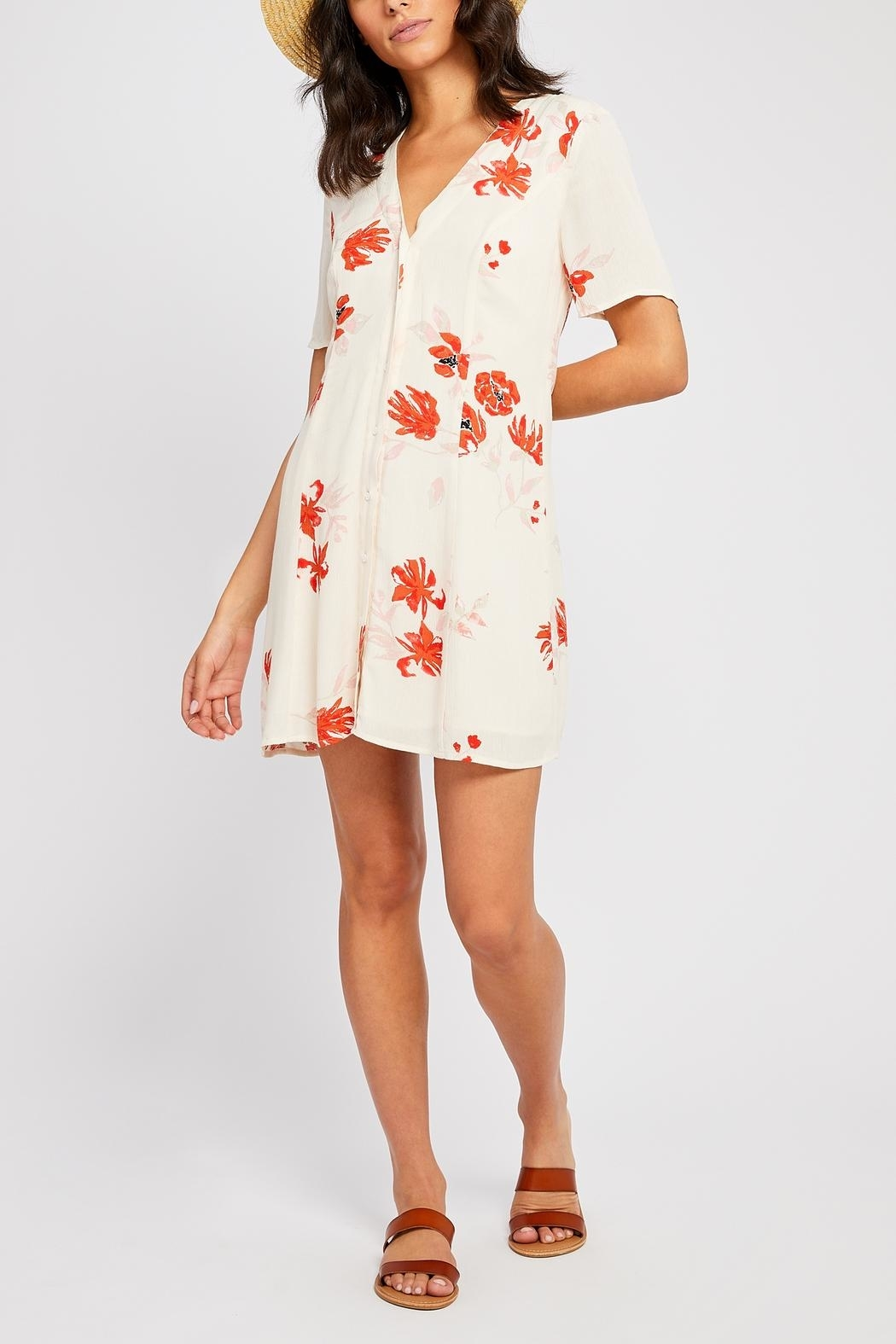 Gentle Fawn Kylie Button Front Sun Dress - Back Cropped Image