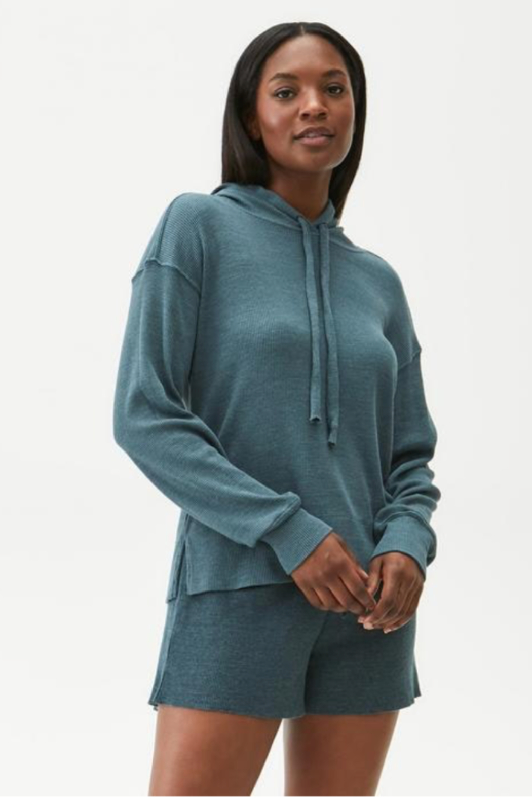 Michael Stars Kylo Hoodie with Side Slits - Front Full Image
