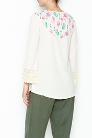L & B Cream Cactus Top - Back cropped