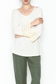 L & B Cream Cactus Top - Front cropped
